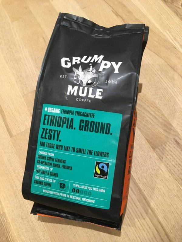 Grumpy Mule Ethiopian coffee