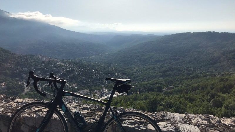 Bianchi Intenso with a nice view