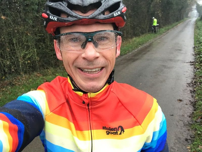 Climb & Conquer jersey in the wet