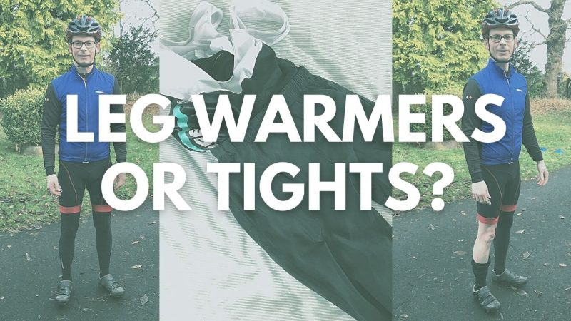 Cycling leg warmers versus tights