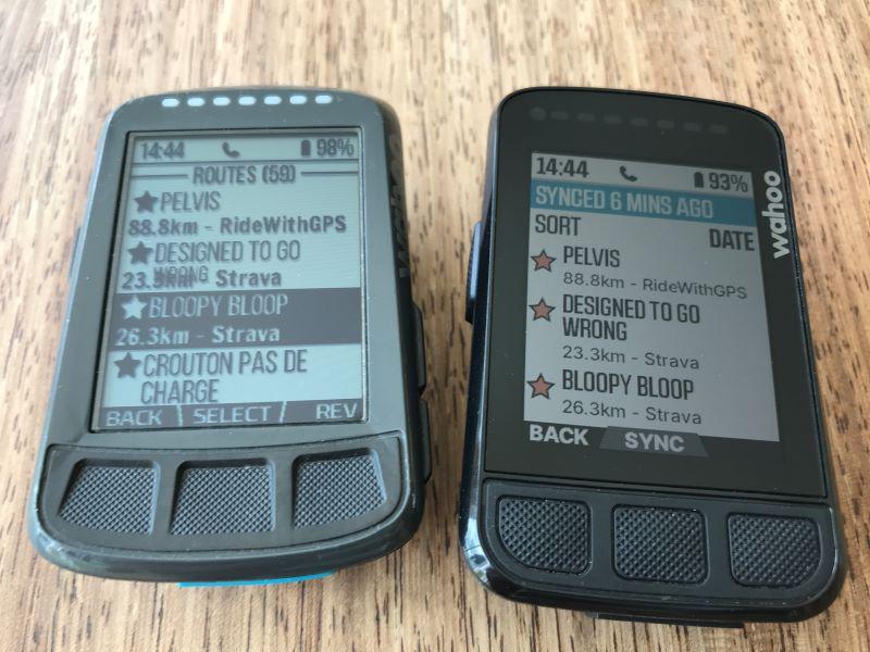 ELEMNT BOLT V2 vs V1 colour screen
