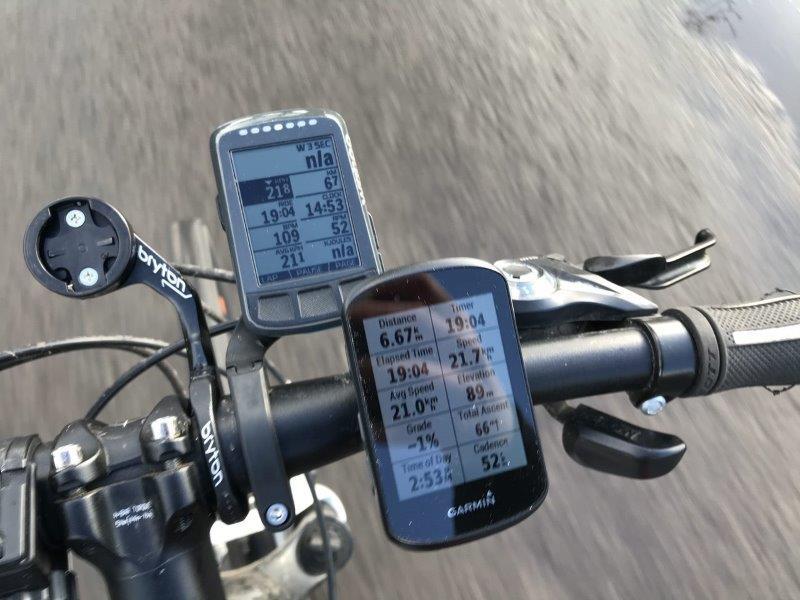 ELEMNT BOLT לעומת Edge 530 בנסיעה באופניים