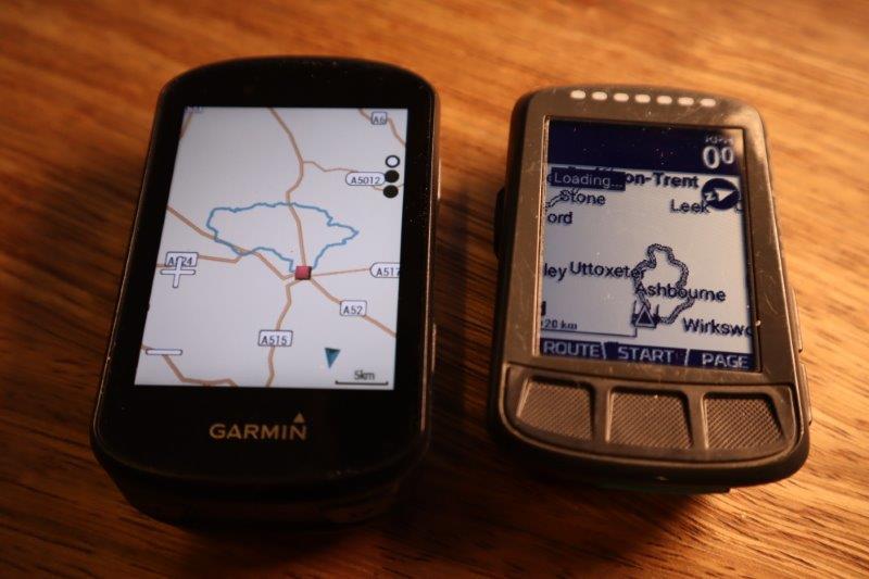 Edge 530 vs ELEMNT BOLT following a route