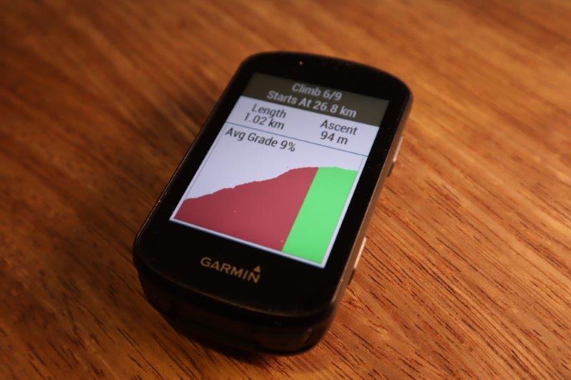 Garmin Edge 530 ClimbPro feature