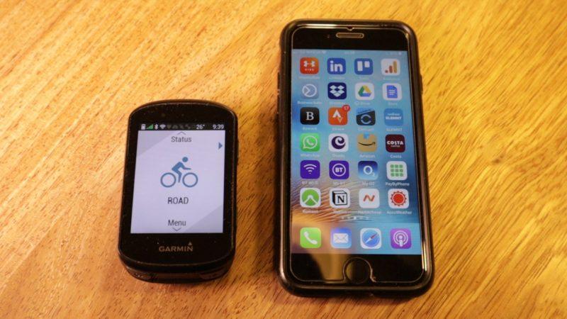 Garmin Edge 530 size versus iPhone 7