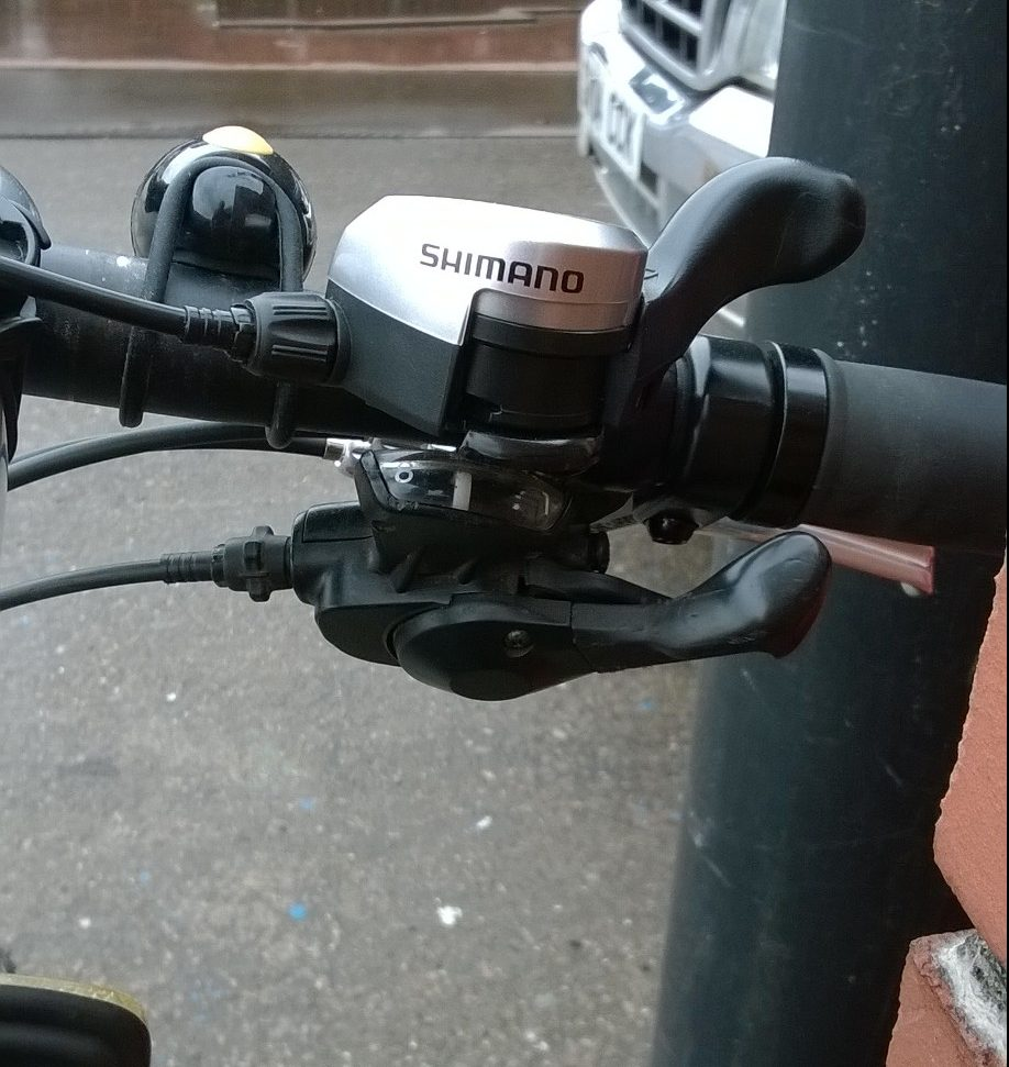 Gears for one handed bike rider