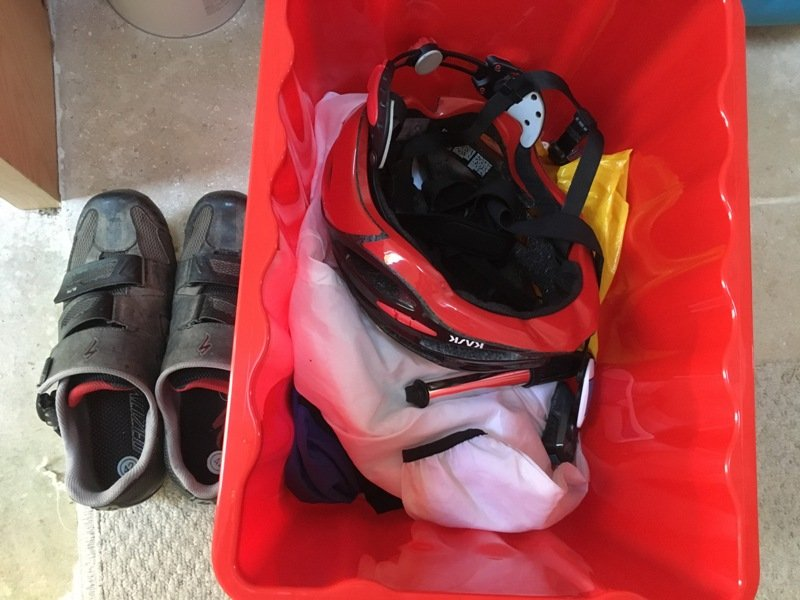 Go box and cycling shoes
