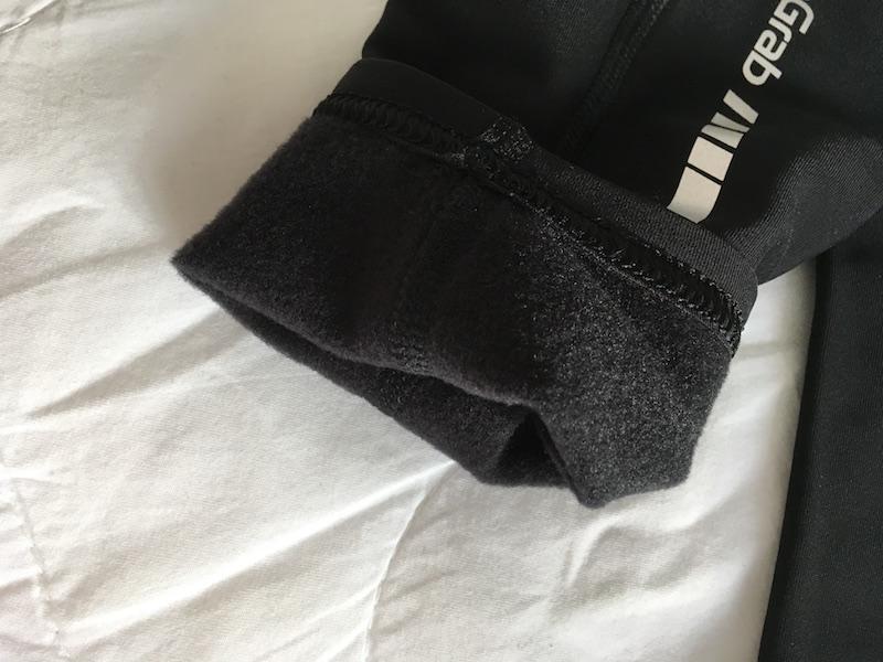 GripGrab leg warmers furry fabric