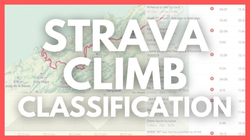 How does Strava Determine Cycling Climb Categories