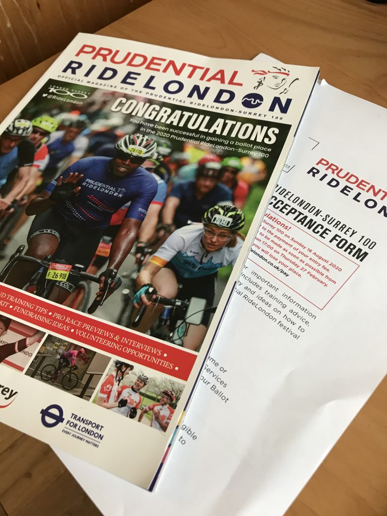 RideLondon Congratulations magazine