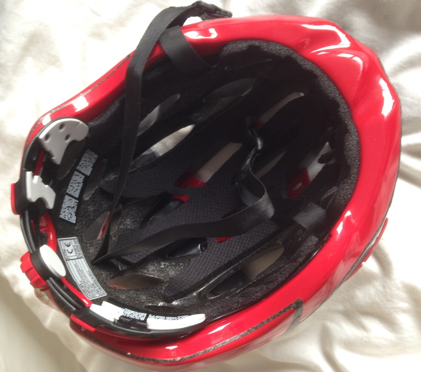 Inside the Kask Vertigo 2 helmet