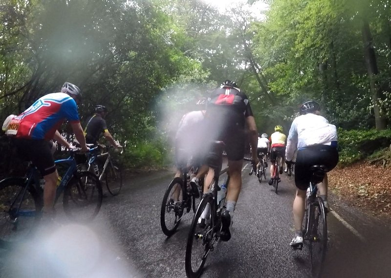 Leith Hill RideLondon 2018 wet