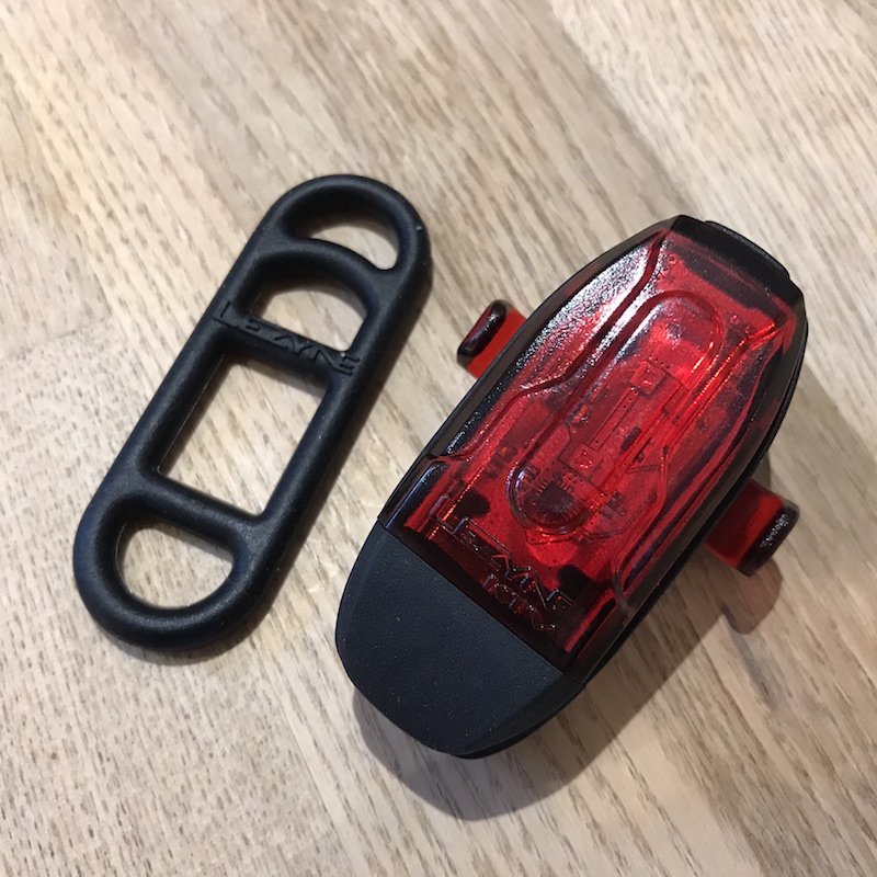 Lezyne pro drive rear light with elastic fitting band