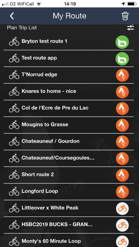 Routes list Bry Strava Ridewithgps
