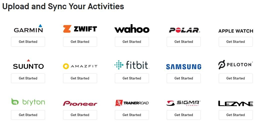 Strava connected apps