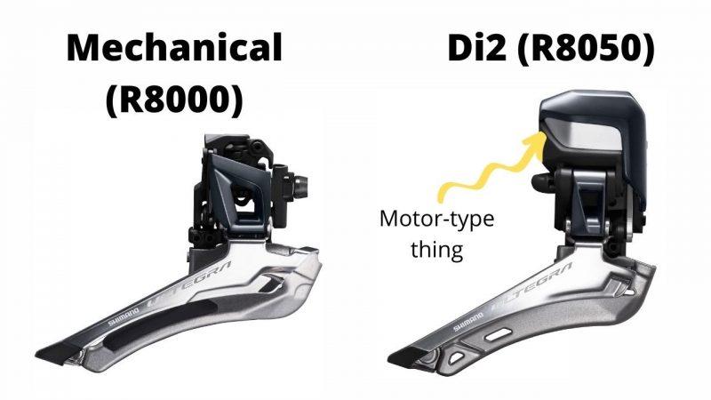 Ultegra Di2 vs mechanical front derailleur