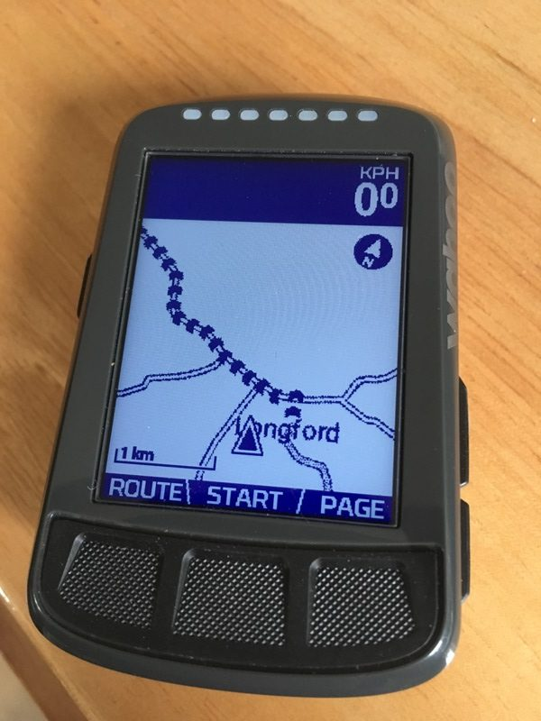 Wahoo ELEMNT BOLT route map