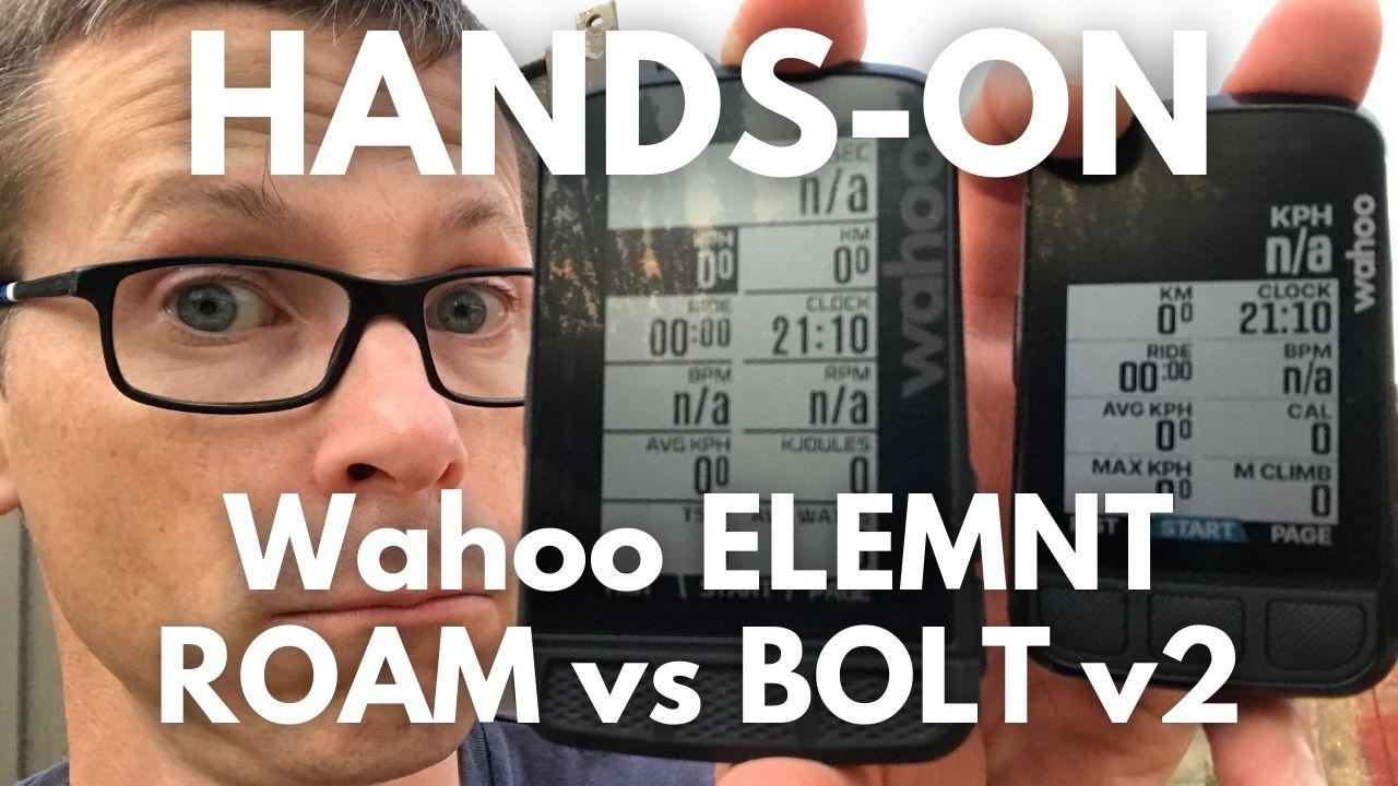 Wahoo ELEMNT ROAM vs Wahoo ELEMNT BOLT v2