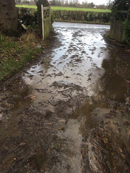 muddy wet day