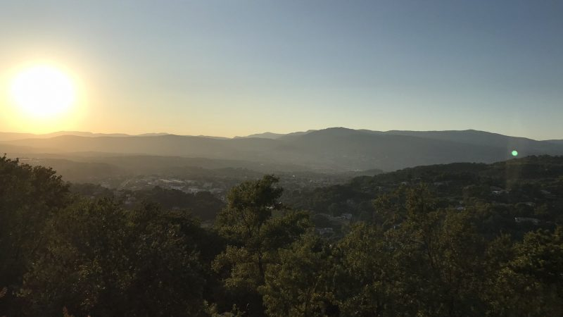 sunset in Mougins