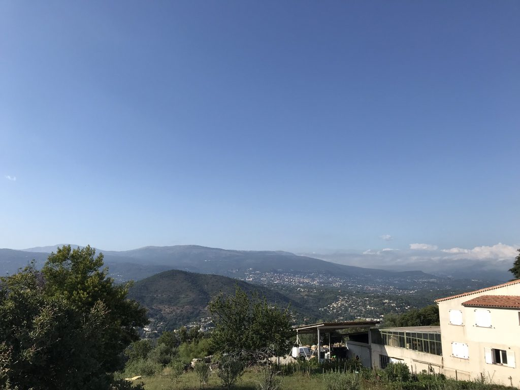 Grasse and the mountains behind